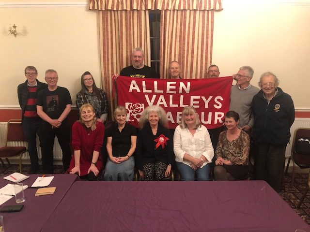 The Allen Valleys Labour Party Supporters' Group welcomes Penny.