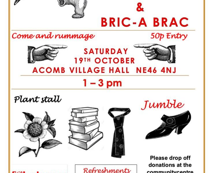 Fundraising Jumble, Vintage & Bric-a-Brac Sale