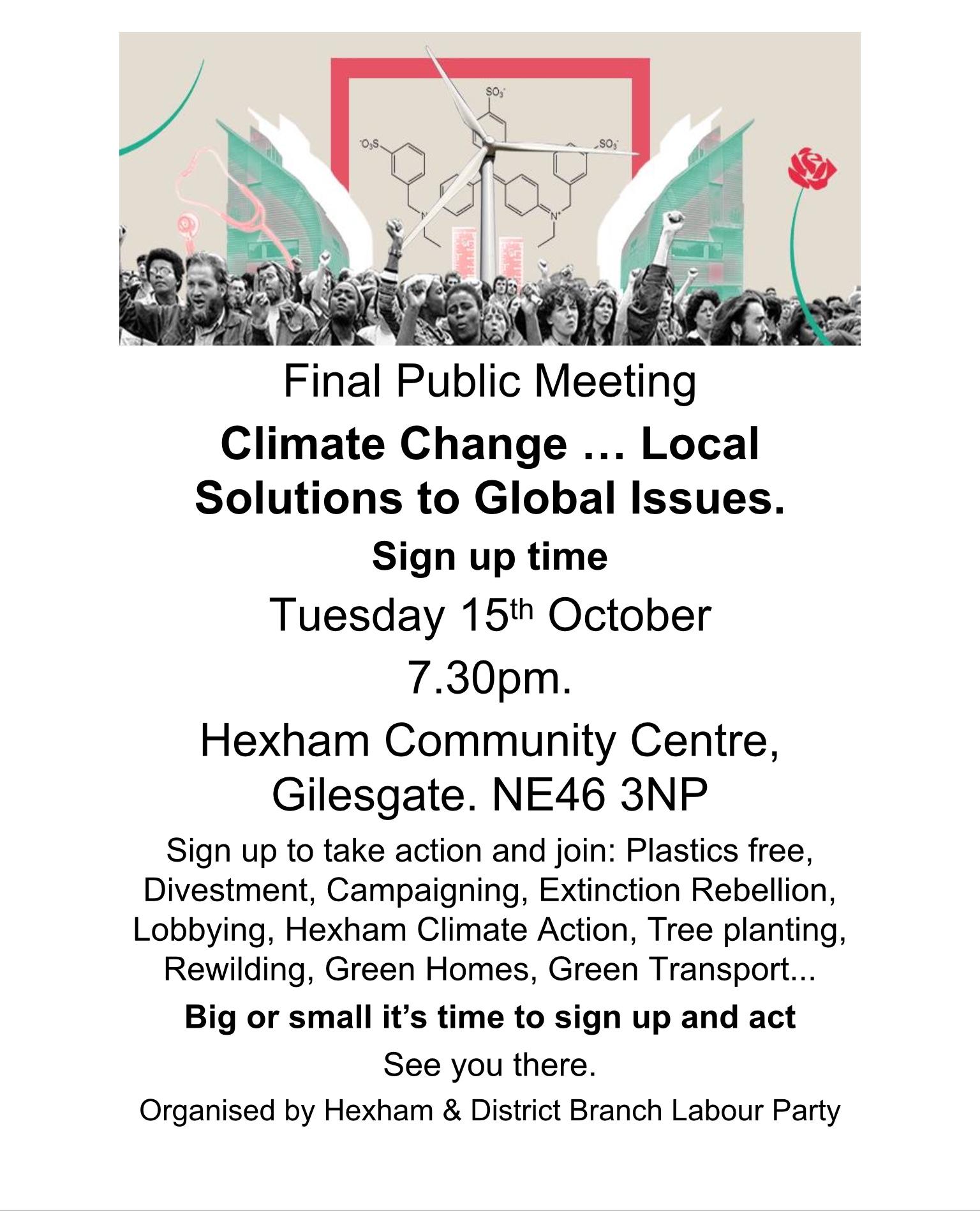 Climate Change Public Meeting