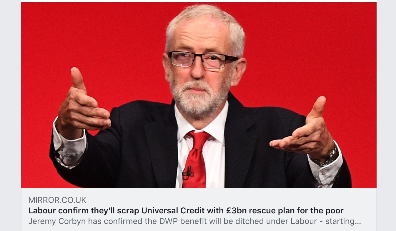Labour confirm they'll scrap Universal Credit