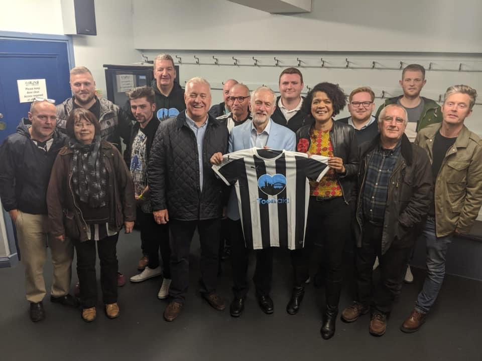 Jeremy Corbyn meets Newcastle United supporters