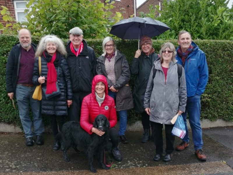 Campaigning on a rainy day in Prudhoe