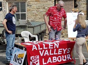 Allen Valleys Labour Group stall
