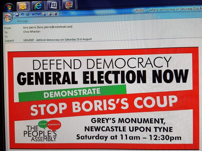 Urgent email – Defend Democracy