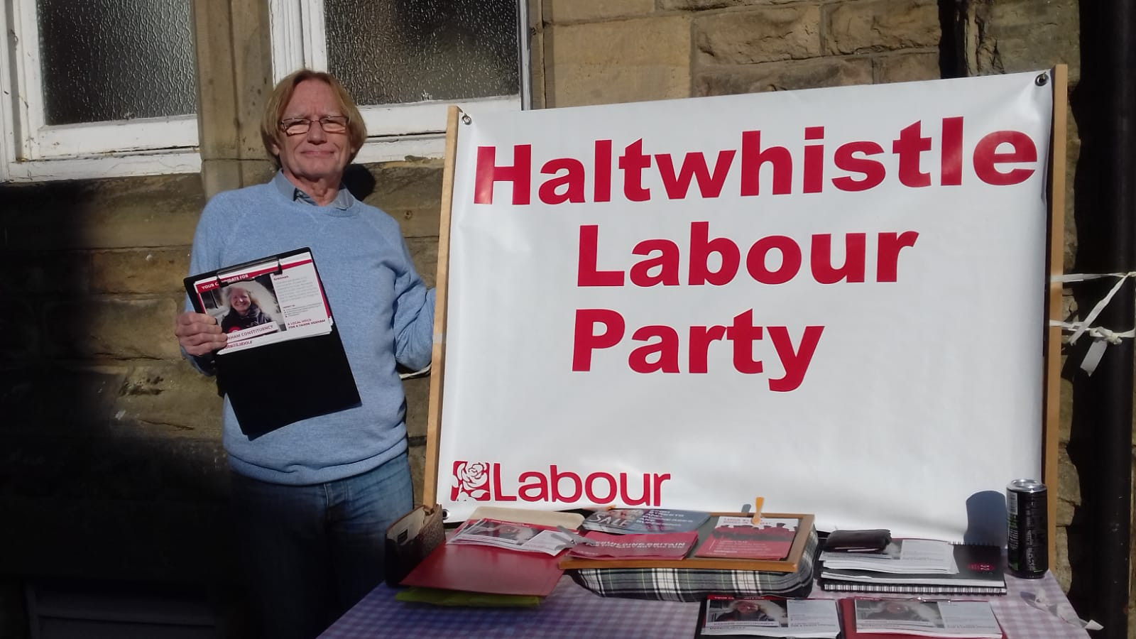 Stall outside Haltwhistle Library
