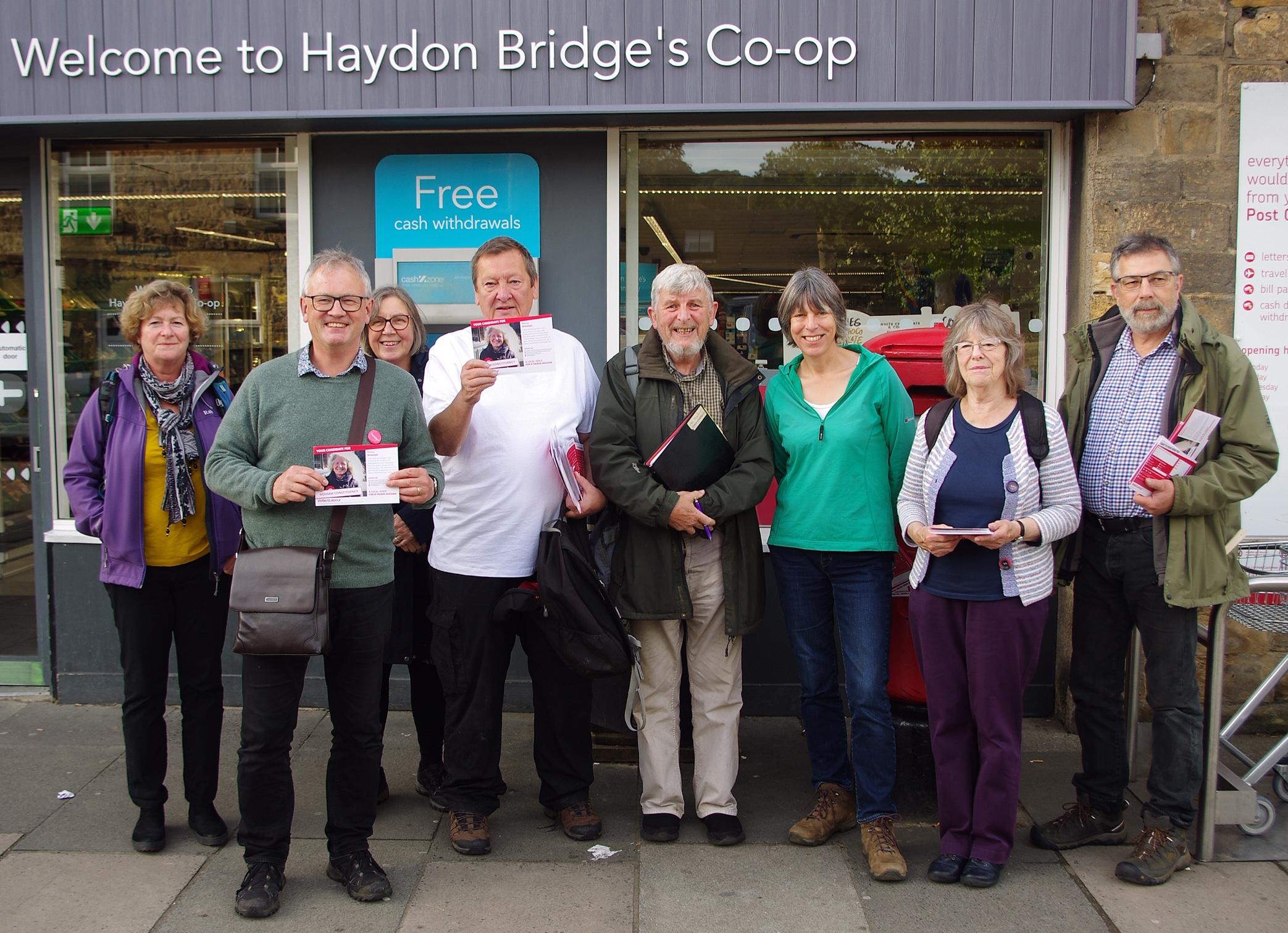 Campaigning in Haydon Bridge