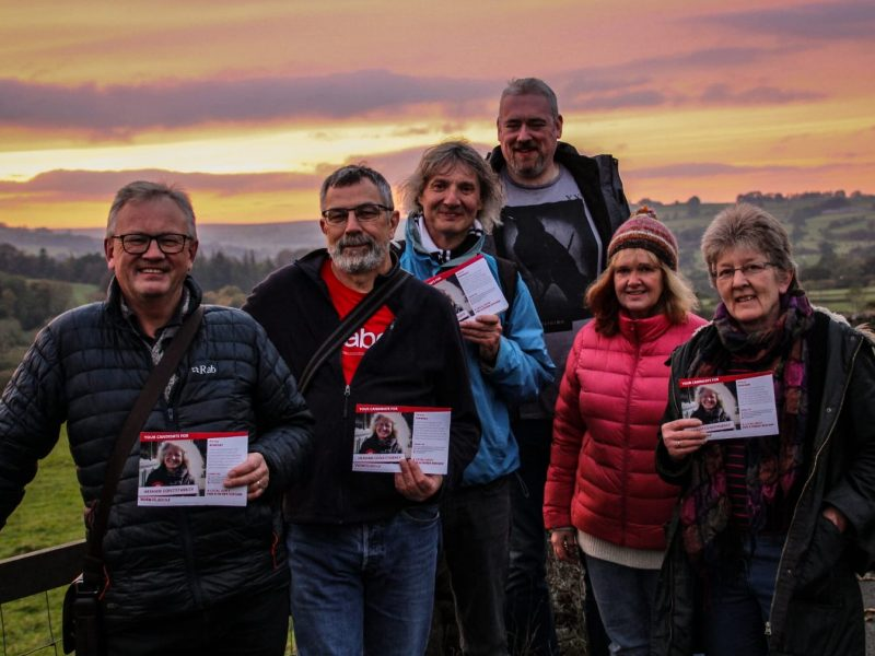 Campaigning in Allendale