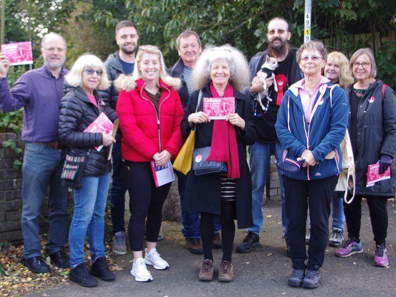 Campaigning in Ponteland