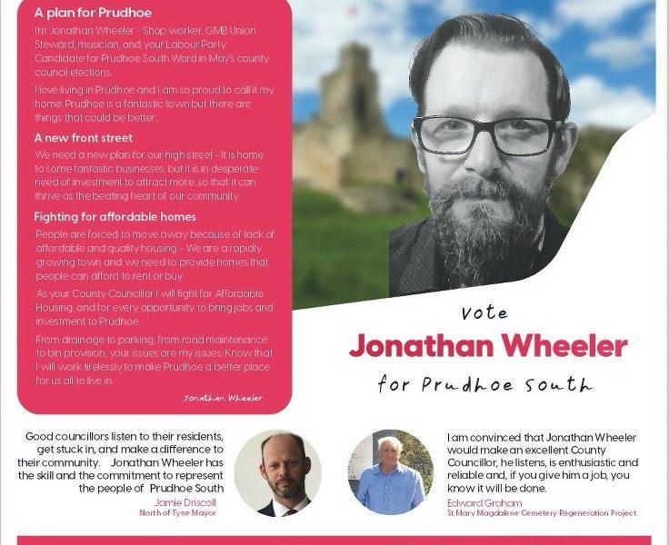 Prudhoe South candidate – Jonathan Wheeler