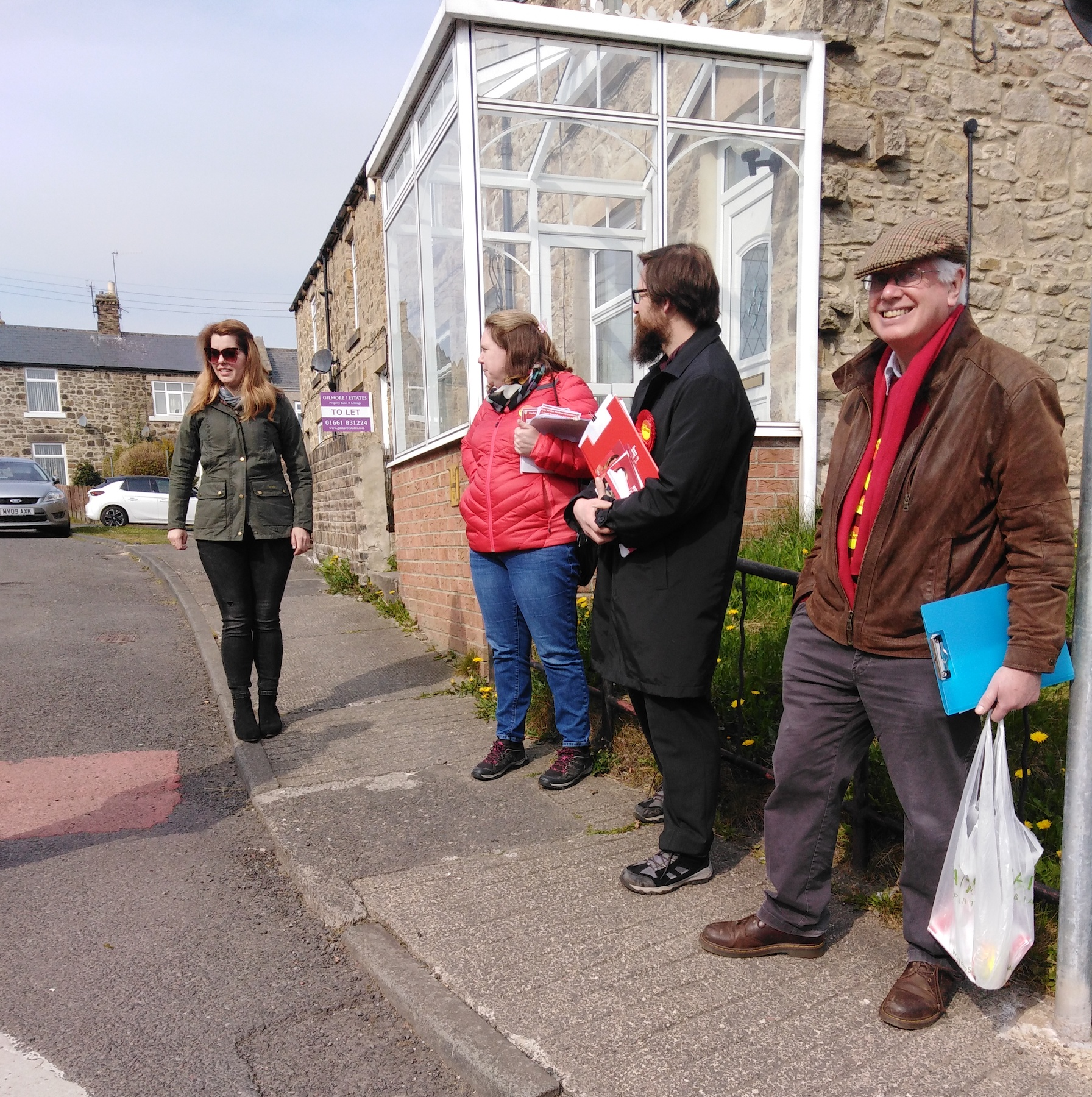 Prudhoe candidates campaigning for Kim